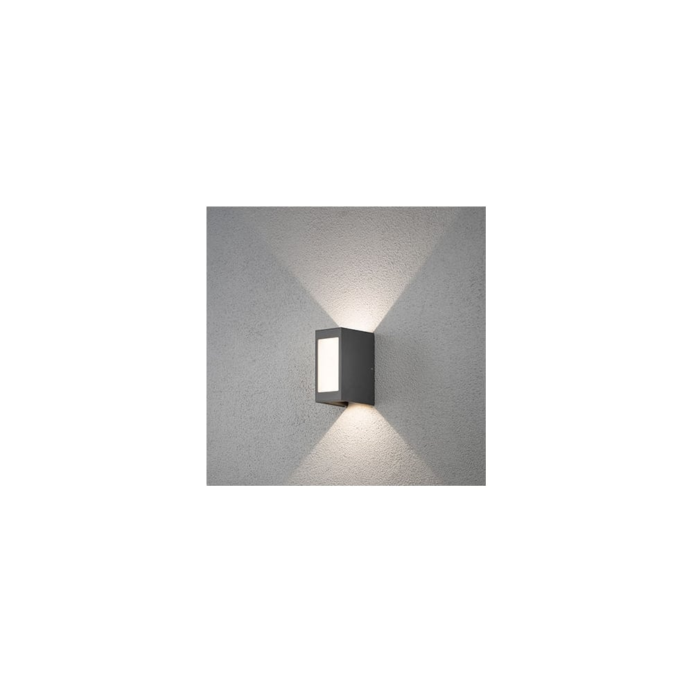 Cremona Grey Led Modern Outdoor Wall Light Ideas4lighting Sku27191i4l