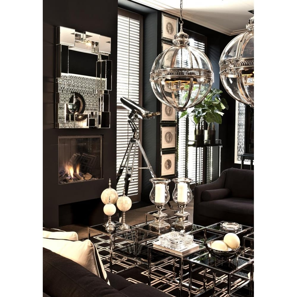 Eicholtz Residential Polished Chrome Ceiling Globe Pendant Ideas4lighting